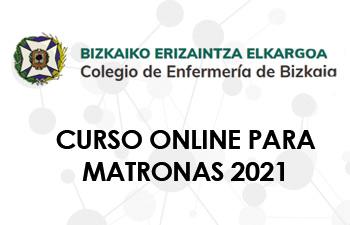 CURSO ONLINE PARA MATRONAS 2021. COLEGIO OFICIAL DE ENFERMERÍA DE BIZKAIA